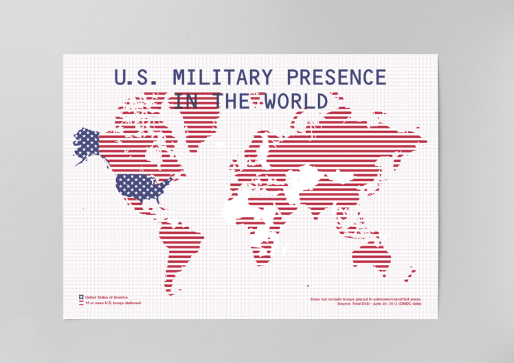 US military presence print